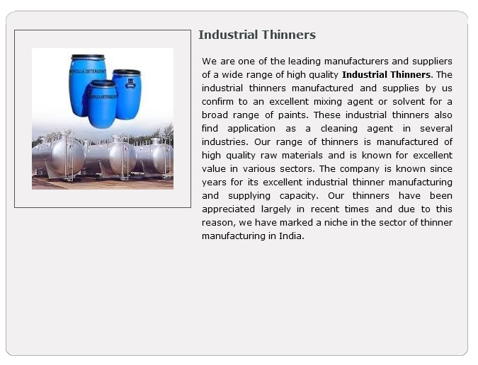 industrial thinner